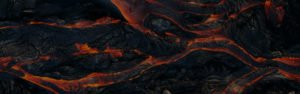 lava incandescente